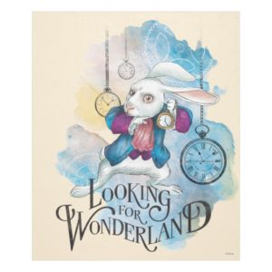 The White Rabbit | Looking for Wonderland Fleece Blanket