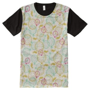 The White Rabbit Pattern All-Over-Print T-Shirt