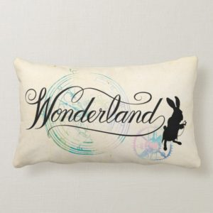 The White Rabbit | Wonderland Lumbar Pillow