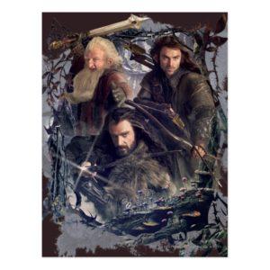 Thorin, Kili, and Balin Graphic Postcard