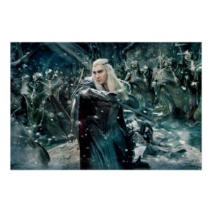Thranduil In Battle Poster