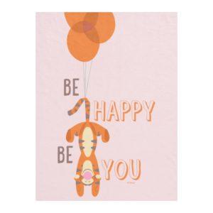 Tigger | Be Happy Be You Quote Fleece Blanket