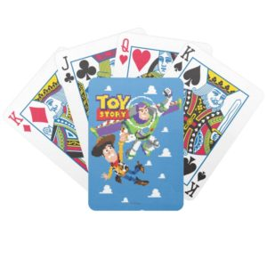 Toy Story 8Bit Woody and Buzz Lightyear Bicycle Playing Cards
