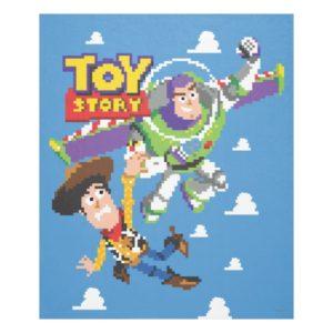 Toy Story 8Bit Woody and Buzz Lightyear Fleece Blanket