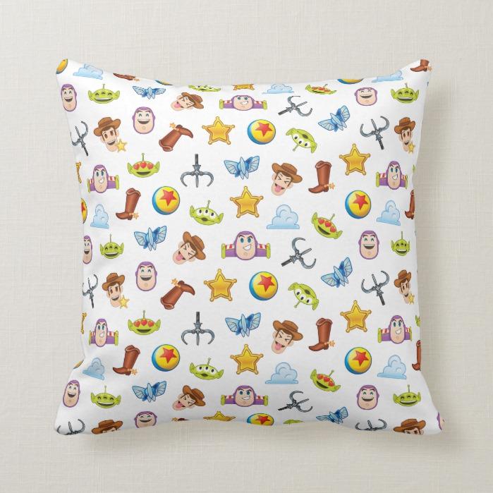 Toy Story Emoji Pattern Throw Pillow