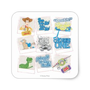 Toy Story Picture Collage Square Sticker
