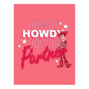 "Toy Story | Woody ""Howdy Howdy Howdy Partner"" Postcard"