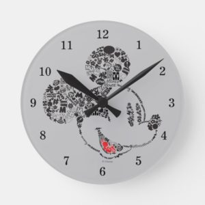 Trendy Mickey | Icons & Phrases Round Clock