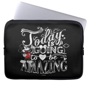 Trendy Mickey | Today Is Going To Be Amazing Computer Sleeve
