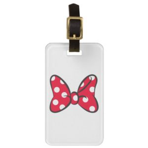 Trendy Minnie | Red Polka Dot Bow Luggage Tag