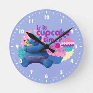 Trolls | Biggie - Is it Cupcake Time? Round Clock