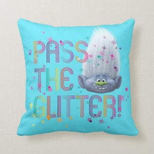 Trolls | Guy Diamond - Pass the Glitter Throw Pillow
