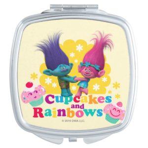 Trolls | Poppy & Branch - Cupcakes and Rainbows Makeup Mirror