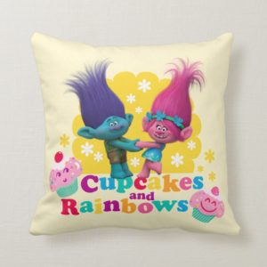 Trolls | Poppy & Branch - Cupcakes and Rainbows Throw Pillow