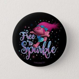 Trolls   Poppy Free to Sparkle Button