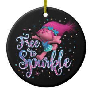 Trolls | Poppy Free to Sparkle Ceramic Ornament