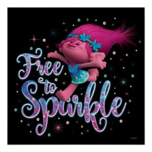 Trolls | Poppy Free to Sparkle Poster
