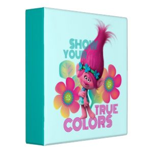 Trolls   Poppy - Show Your True Colors 3 Ring Binder