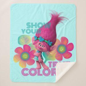Trolls   Poppy - Show Your True Colors Sherpa Blanket