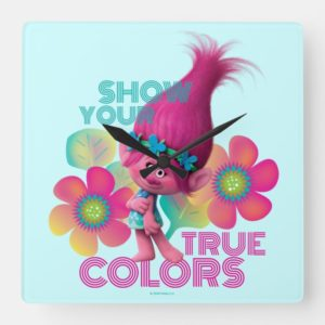 Trolls | Poppy - Show Your True Colors Square Wall Clock