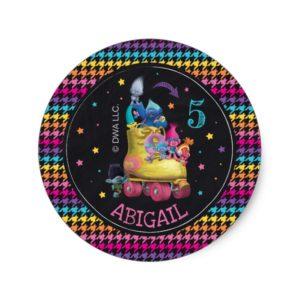 Trolls Snack Pack Birthday Classic Round Sticker