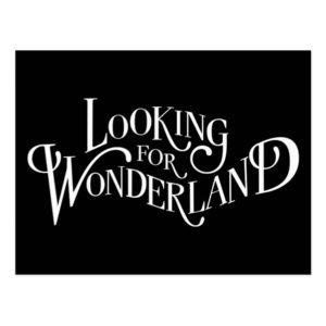 Typography | Looking for Wonderland Postcard