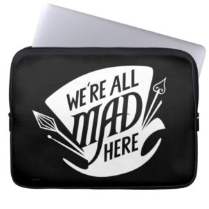 Typography | We're all Mad 4 Laptop Sleeve