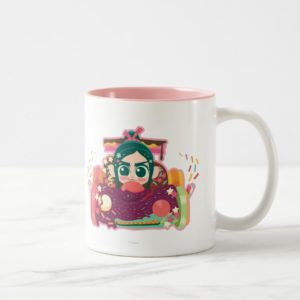 Vanellope Von Schweetz Driving Car Two-Tone Coffee Mug
