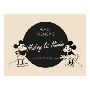 Vintage Mickey & Minnie Postcard