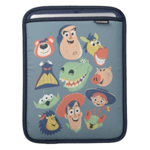 Vintage Painted Toy Story Characters iPad Sleeve