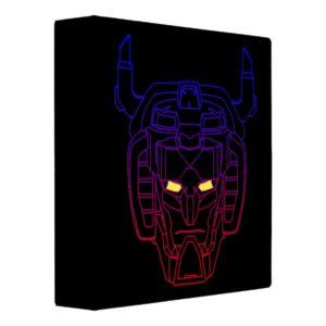 Voltron | Blue-Red Gradient Head Outline 3 Ring Binder