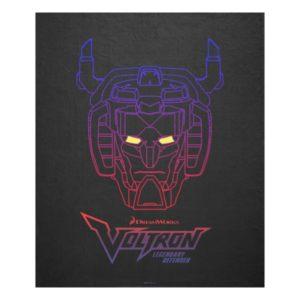 Voltron | Blue-Red Gradient Head Outline Fleece Blanket