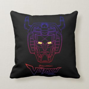 Voltron | Blue-Red Gradient Head Outline Throw Pillow