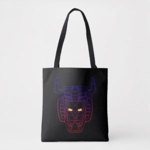 Voltron | Blue-Red Gradient Head Outline Tote Bag