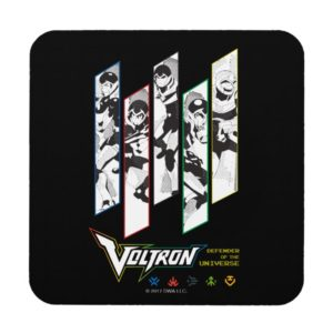 Voltron | Classic Pilots Halftone Panels Drink Coaster