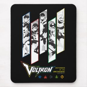 Voltron   Classic Pilots Halftone Panels Mouse Pad