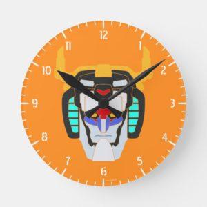 Voltron | Colored Voltron Head Graphic Round Clock