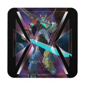 Voltron   Intergalactic Voltron Graphic Beverage Coaster