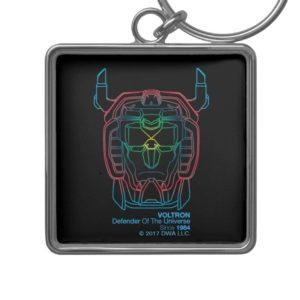 Voltron | Pilot Colors Gradient Head Outline Keychain