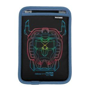 Voltron | Pilot Colors Gradient Head Outline Sleeve For iPad Mini