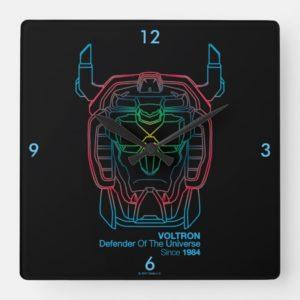Voltron | Pilot Colors Gradient Head Outline Square Wall Clock
