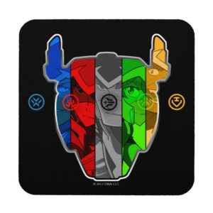 Voltron | Pilots In Voltron Head Beverage Coaster