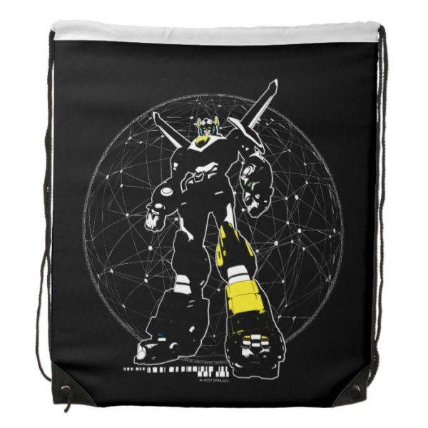 Voltron | Silhouette Over Map Drawstring Bag