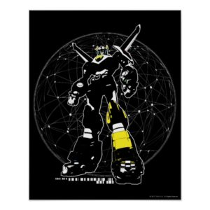 Voltron | Silhouette Over Map Poster