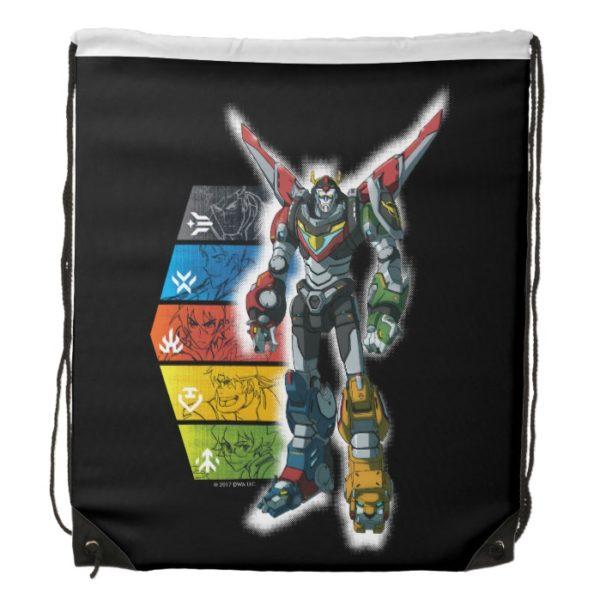 Voltron   Voltron And Pilots Graphic Drawstring Bag