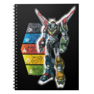Voltron   Voltron And Pilots Graphic Notebook