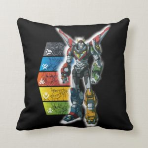 Voltron | Voltron And Pilots Graphic Throw Pillow