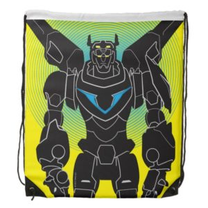 Voltron | Voltron Black Silhouette Drawstring Bag