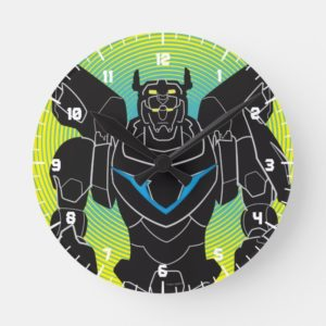 Voltron | Voltron Black Silhouette Round Clock