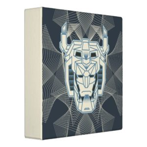 Voltron | Voltron Head Blue and White Outline 3 Ring Binder